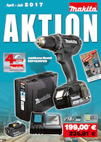 Makita Aktion April 2017 bauXpert Schnepf